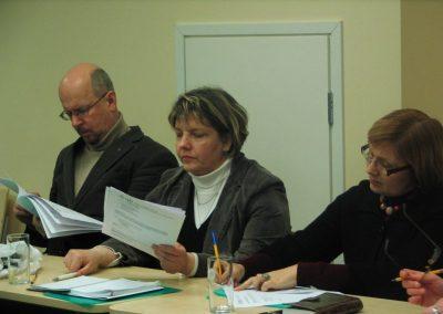 Tõnu Tender HTMist ja koolitajad Tiina Kikerpill ja Ülle Türk Tartu Ülikoolist