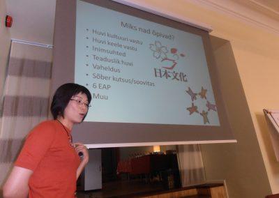 Ettekandega esineb TÜ Euraasia keelte lektoraadi juhataja, Jaapani keele õpetaja Eri Miyano.