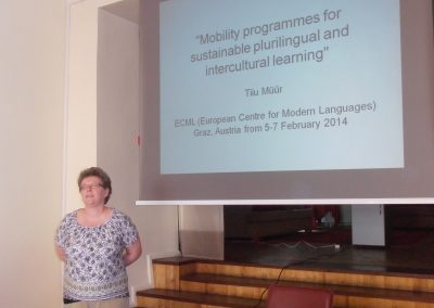 Tiiu Müür räägib osalemisest ECML mobiilsusprogrammis.